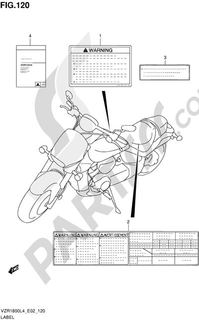 Suzuki VZR1800 2014 120 - LABEL (VZR1800L4 E02)