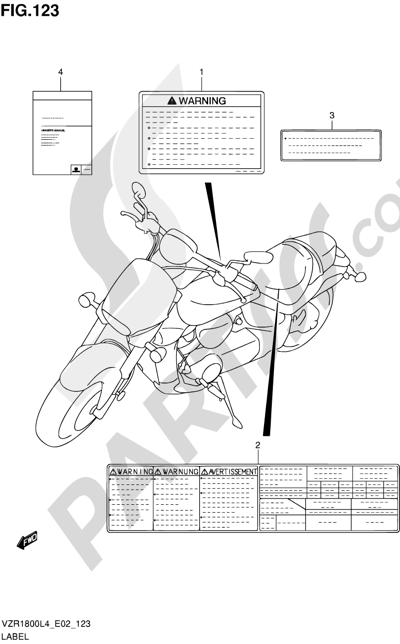 Suzuki VZR1800 2014 123 - LABEL (VZR1800ZL4 E02)