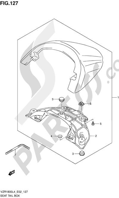 Suzuki VZR1800 2014 127 - SEAT TAIL BOX (VZR1800L4 E02)
