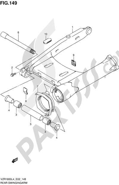 Suzuki VZR1800 2014 149 - REAR SWINGINGARM