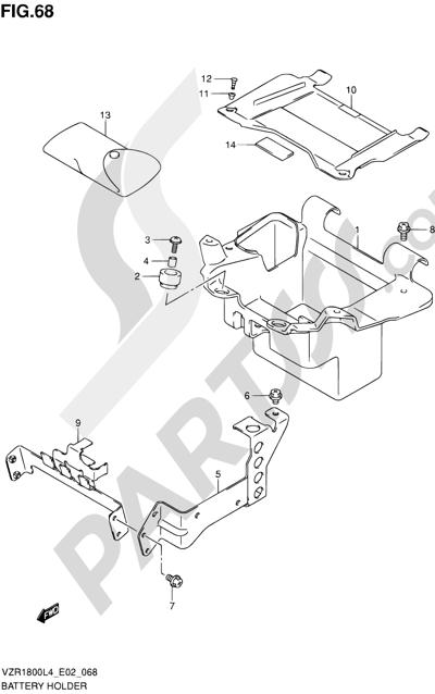 Suzuki VZR1800 2014 68 - BATTERY HOLDER