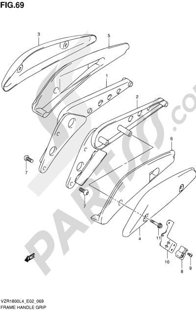 Suzuki VZR1800 2014 69 - FRAME HANDLE GRIP