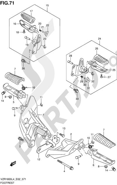 Suzuki VZR1800 2014 71 - FOOTREST