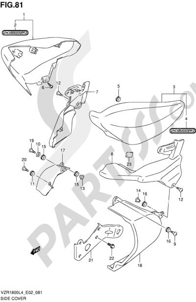 Suzuki VZR1800 2014 81 - SIDE COVER (VZR1800UFL4 E19)