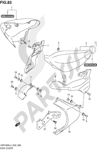Suzuki VZR1800 2014 83 - SIDE COVER (VZR1800ZL4 E19)