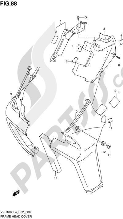 Suzuki VZR1800 2014 88 - FRAME HEAD COVER (VZR1800UFL4 E19)