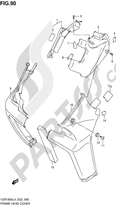 Suzuki VZR1800 2014 90 - FRAME HEAD COVER (VZR1800ZL4 E19)