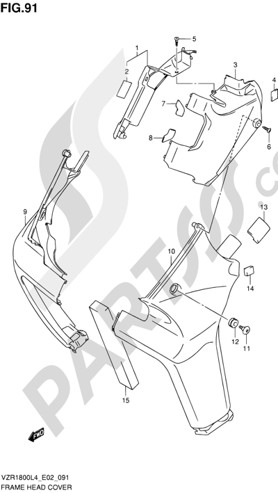 Suzuki VZR1800 2014 91 - FRAME HEAD COVER (VZR1800ZUFL4 E19)