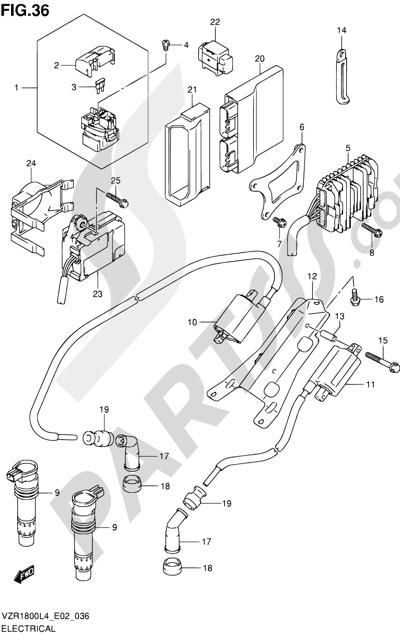 Suzuki VZR1800 2014 36 - ELECTRICAL (VZR1800L4 E19)