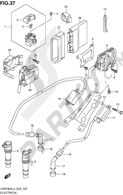 Suzuki VZR1800 2014 37 - ELECTRICAL (VZR1800UFL4 E19)