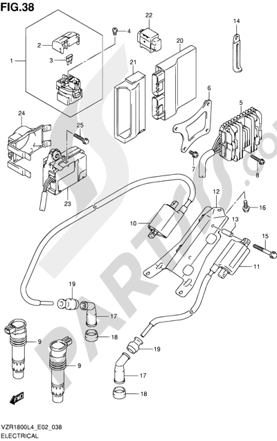 Suzuki VZR1800 2014 38 - ELECTRICAL (VZR1800ZL4 E02)