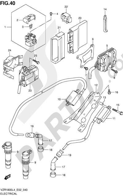 Suzuki VZR1800 2014 40 - ELECTRICAL (VZR1800ZUFL4 E19)