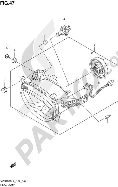 Suzuki VZR1800 2014 47 - HEADLAMP