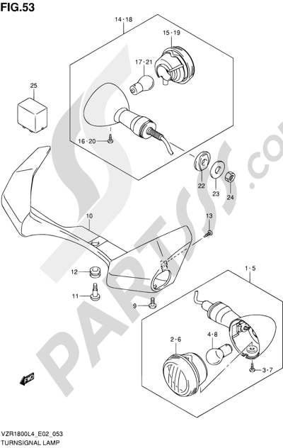 Suzuki VZR1800 2014 53 - TURNSIGNAL LAMP (VZR1800ZUFL4 E19)