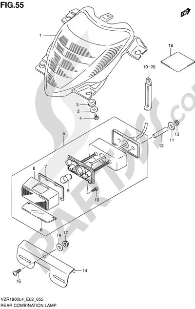 Suzuki VZR1800 2014 55 - REAR COMBINATION LAMP (VZR1800L4 E19)