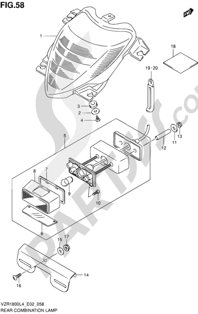 Suzuki VZR1800 2014 58 - REAR COMBINATION LAMP (VZR1800ZL4 E19)