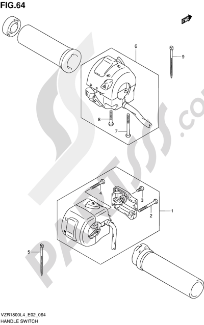 Suzuki VZR1800 2014 64 - HANDLE SWITCH (VZR1800ZL4 E02)