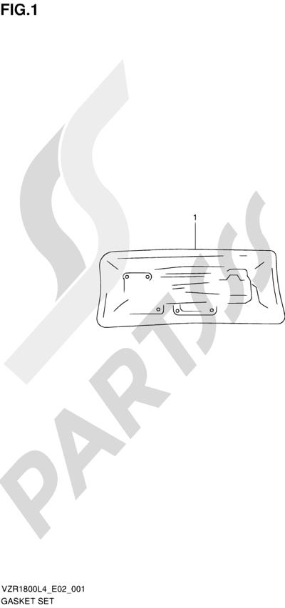 Suzuki VZR1800 2014 1 - GASKET SET