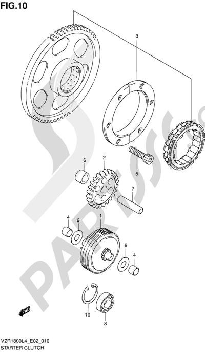 Suzuki VZR1800 2014 10 - STARTER CLUTCH