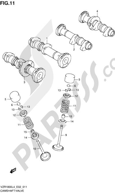 Suzuki VZR1800 2014 11 - CAMSHAFT/VALVE