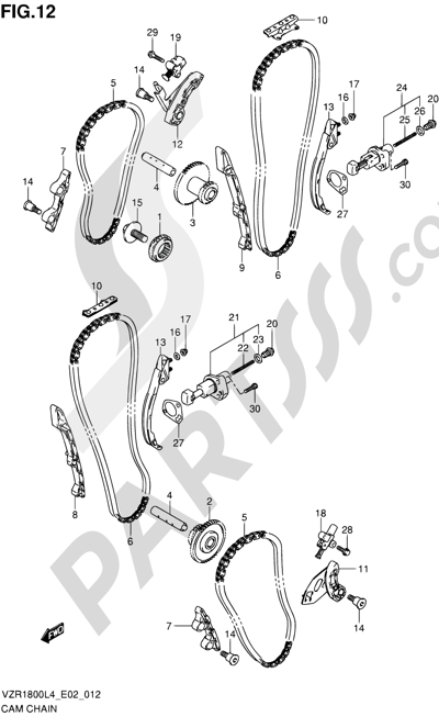 Suzuki VZR1800 2014 12 - CAM CHAIN