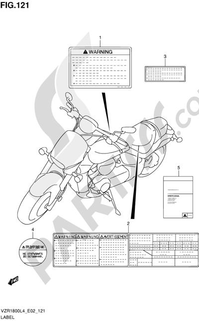 Suzuki VZR1800 2014 121 - LABEL (VZR1800L4 E19)