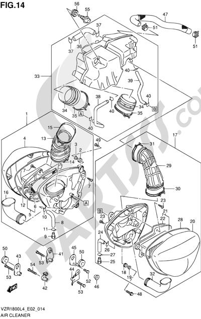 Suzuki VZR1800 2014 14 - AIR CLEANER