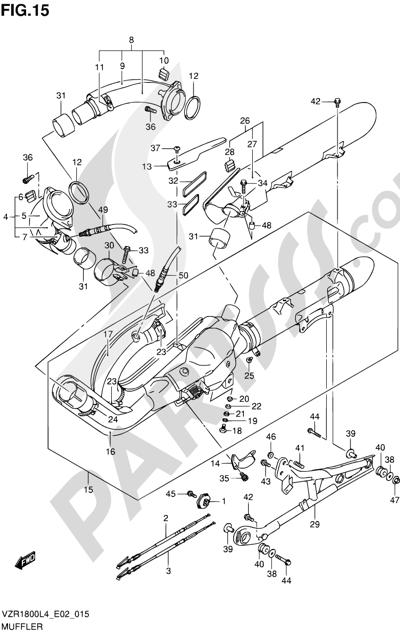Suzuki VZR1800 2014 15 - MUFFLER