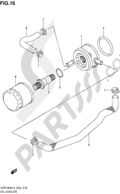 Suzuki VZR1800 2014 16 - OIL COOLER