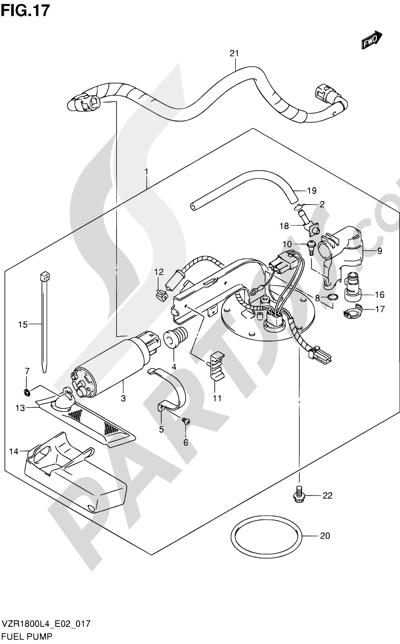 Suzuki VZR1800 2014 17 - FUEL PUMP