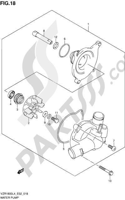 Suzuki VZR1800 2014 18 - WATER PUMP