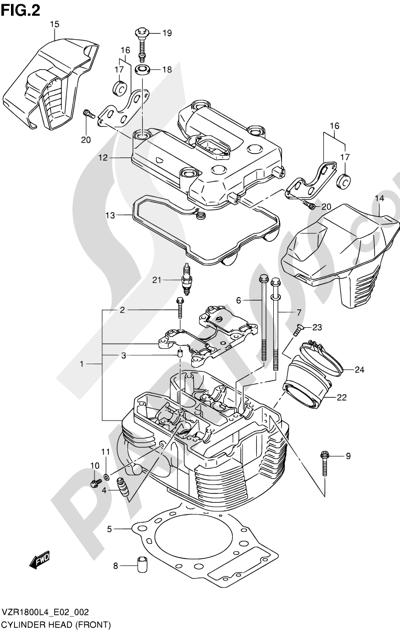 Suzuki VZR1800 2014 2 - CYLINDER HEAD (FRONT)