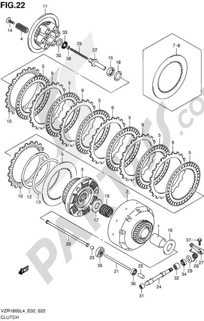 Suzuki VZR1800 2014 22 - CLUTCH