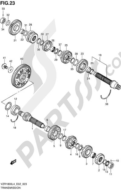 Suzuki VZR1800 2014 23 - TRANSMISSION