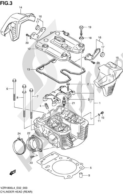 Suzuki VZR1800 2014 3 - CYLINDER HEAD (REAR)