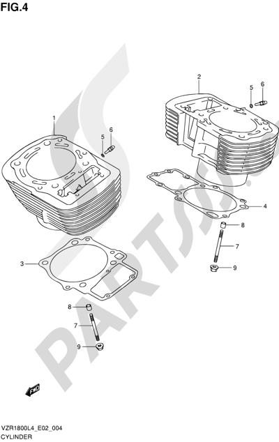 Suzuki VZR1800 2014 4 - CYLINDER