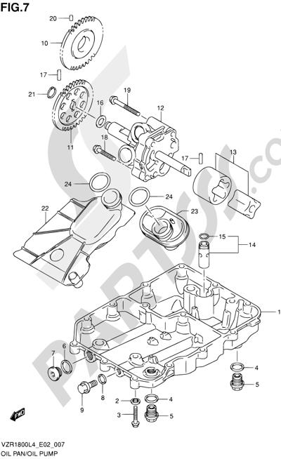Suzuki VZR1800 2014 7 - OIL PAN/OIL PUMP