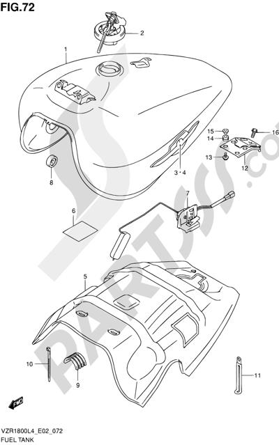 Suzuki VZR1800 2014 72 - FUEL TANK (VZR1800L4 E02)
