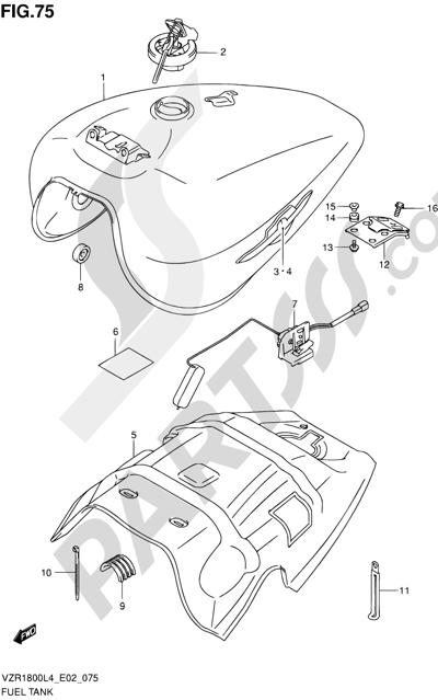 Suzuki VZR1800 2014 75 - FUEL TANK (VZR1800ZL4 E02)