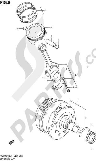 Suzuki VZR1800 2014 8 - CRANKSHAFT