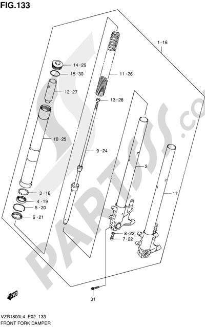 Suzuki VZR1800 2014 133 - FRONT FORK DAMPER