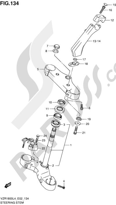 Suzuki VZR1800 2014 134 - STEERING STEM