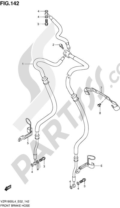 Suzuki VZR1800 2014 142 - FRONT BRAKE HOSE