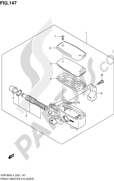 Suzuki VZR1800 2014 147 - FRONT MASTER CYLINDER (VZR1800ZL4 E19)
