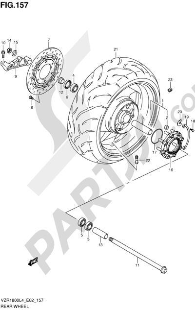 Suzuki VZR1800 2014 157 - REAR WHEEL (VZR1800L4 E19)