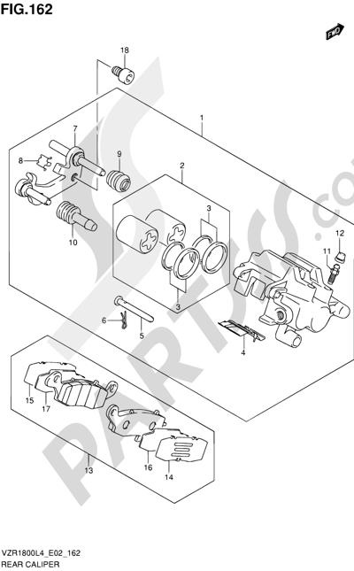 Suzuki VZR1800 2014 162 - REAR CALIPER
