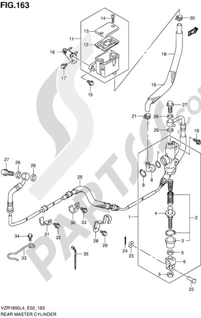 Suzuki VZR1800 2014 163 - REAR MASTER CYLINDER