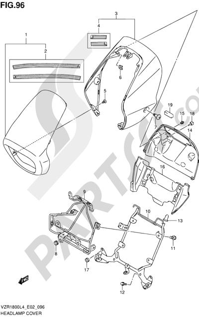 Suzuki VZR1800 2014 96 - HEADLAMP COVER (VZR1800ZL4 E02)
