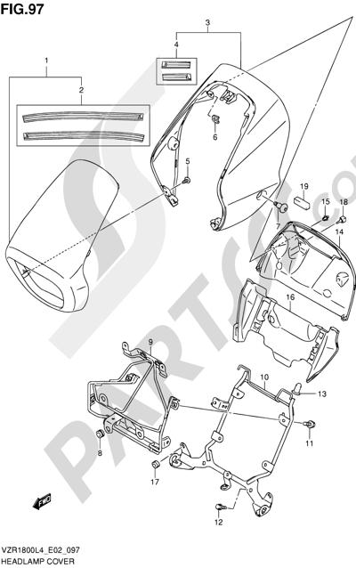 Suzuki VZR1800 2014 97 - HEADLAMP COVER (VZR1800ZL4 E19)