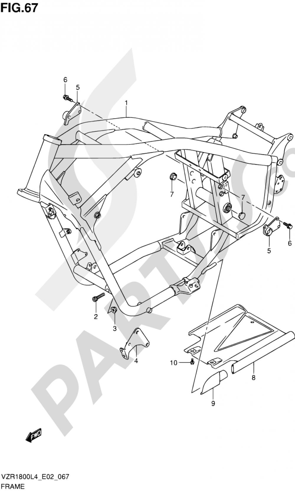 67 - FRAME Suzuki VZR1800 2014